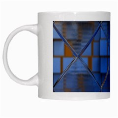 Glass Abstract Art Pattern White Mugs