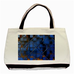 Glass Abstract Art Pattern Basic Tote Bag