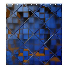 Glass Abstract Art Pattern Shower Curtain 66  X 72  (large)  by Nexatart