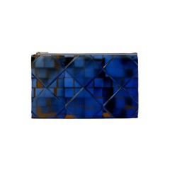 Glass Abstract Art Pattern Cosmetic Bag (small)  by Nexatart