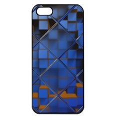 Glass Abstract Art Pattern Apple Iphone 5 Seamless Case (black) by Nexatart