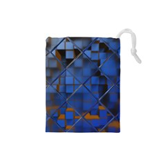 Glass Abstract Art Pattern Drawstring Pouches (small)  by Nexatart