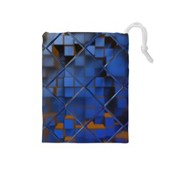 Glass Abstract Art Pattern Drawstring Pouches (medium)