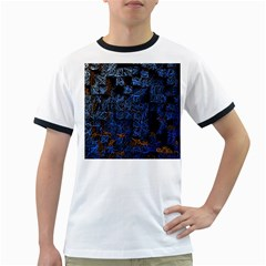 Background Abstract Art Pattern Ringer T Shirts