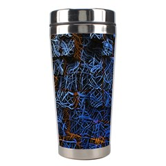 Background Abstract Art Pattern Stainless Steel Travel Tumblers by Nexatart
