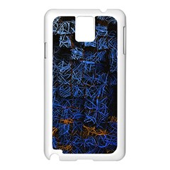 Background Abstract Art Pattern Samsung Galaxy Note 3 N9005 Case (white)