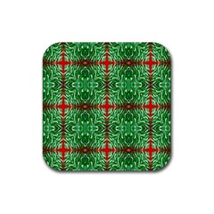 Geometric Seamless Pattern Digital Computer Graphic Rubber Square Coaster (4 Pack)  by Nexatart