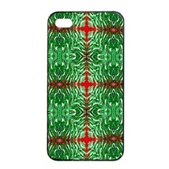 Geometric Seamless Pattern Digital Computer Graphic Apple Iphone 4/4s Seamless Case (black) by Nexatart