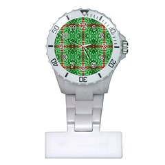 Geometric Seamless Pattern Digital Computer Graphic Plastic Nurses Watch by Nexatart