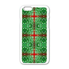 Geometric Seamless Pattern Digital Computer Graphic Apple Iphone 6/6s White Enamel Case