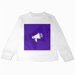 Announce Sing White Blue Kids Long Sleeve T Shirts by Mariart