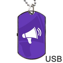 Announce Sing White Blue Dog Tag Usb Flash (two Sides) by Mariart