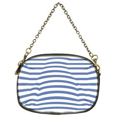 Animals Illusion Penguin Line Blue White Chain Purses (one Side)  by Mariart