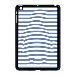 Animals Illusion Penguin Line Blue White Apple Ipad Mini Case (black) by Mariart