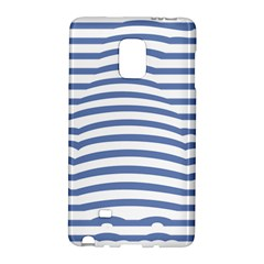 Animals Illusion Penguin Line Blue White Galaxy Note Edge by Mariart