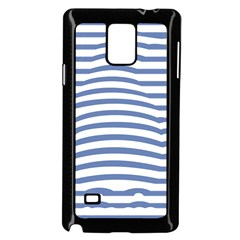 Animals Illusion Penguin Line Blue White Samsung Galaxy Note 4 Case (black) by Mariart