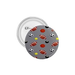 Balltiled Grey Ball Tennis Football Basketball Billiards 1 75  Buttons by Mariart