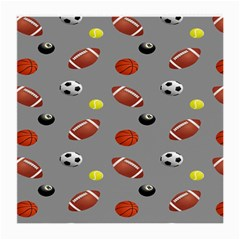 Balltiled Grey Ball Tennis Football Basketball Billiards Medium Glasses Cloth (2 Side) by Mariart