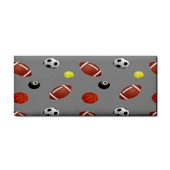 Balltiled Grey Ball Tennis Football Basketball Billiards Cosmetic Storage Cases by Mariart