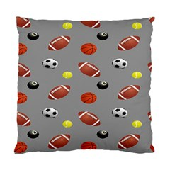 Balltiled Grey Ball Tennis Football Basketball Billiards Standard Cushion Case (two Sides) by Mariart