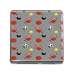 Balltiled Grey Ball Tennis Football Basketball Billiards Memory Card Reader (square) by Mariart