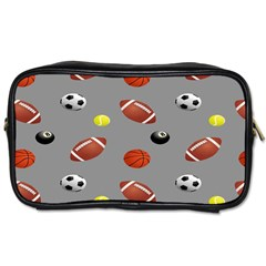 Balltiled Grey Ball Tennis Football Basketball Billiards Toiletries Bags 2 Side by Mariart