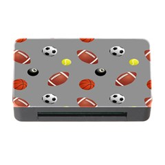 Balltiled Grey Ball Tennis Football Basketball Billiards Memory Card Reader With Cf by Mariart