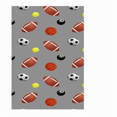 Balltiled Grey Ball Tennis Football Basketball Billiards Large Garden Flag (two Sides) by Mariart