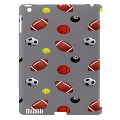 Balltiled Grey Ball Tennis Football Basketball Billiards Apple Ipad 3/4 Hardshell Case (compatible With Smart Cover) by Mariart