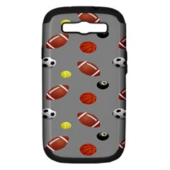 Balltiled Grey Ball Tennis Football Basketball Billiards Samsung Galaxy S Iii Hardshell Case (pc+silicone) by Mariart