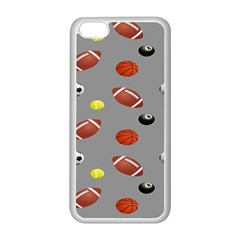 Balltiled Grey Ball Tennis Football Basketball Billiards Apple Iphone 5c Seamless Case (white) by Mariart