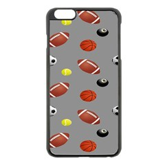 Balltiled Grey Ball Tennis Football Basketball Billiards Apple Iphone 6 Plus/6s Plus Black Enamel Case by Mariart