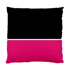 Black Pink Line White Standard Cushion Case (two Sides) by Mariart