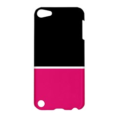 Black Pink Line White Apple Ipod Touch 5 Hardshell Case by Mariart