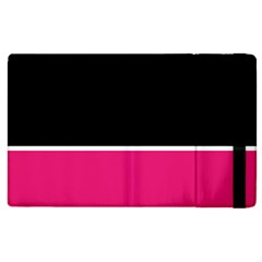 Black Pink Line White Apple Ipad 2 Flip Case by Mariart