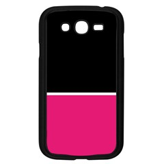 Black Pink Line White Samsung Galaxy Grand Duos I9082 Case (black) by Mariart