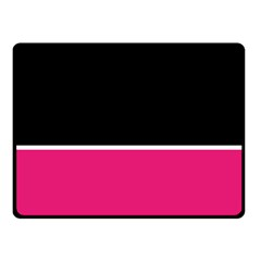 Black Pink Line White Double Sided Fleece Blanket (small)  by Mariart