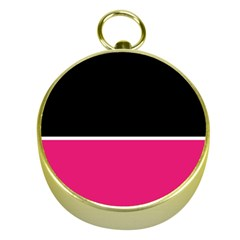 Black Pink Line White Gold Compasses by Mariart