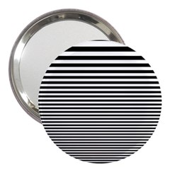 Black White Line 3  Handbag Mirrors by Mariart