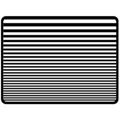 Black White Line Double Sided Fleece Blanket (large)  by Mariart