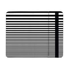 Black White Line Samsung Galaxy Tab Pro 8 4  Flip Case by Mariart