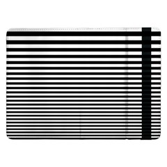 Black White Line Samsung Galaxy Tab Pro 12 2  Flip Case by Mariart
