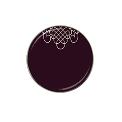 Black Cherry Scrolls Purple Hat Clip Ball Marker (4 Pack) by Mariart