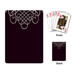 Black Cherry Scrolls Purple Playing Card by Mariart
