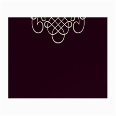 Black Cherry Scrolls Purple Small Glasses Cloth (2 Side) by Mariart