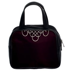 Black Cherry Scrolls Purple Classic Handbags (2 Sides) by Mariart