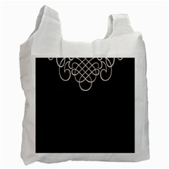 Black Cherry Scrolls Purple Recycle Bag (one Side) by Mariart