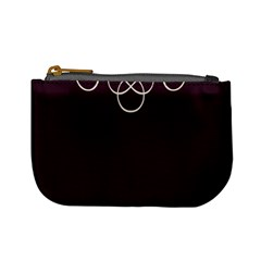 Black Cherry Scrolls Purple Mini Coin Purses by Mariart
