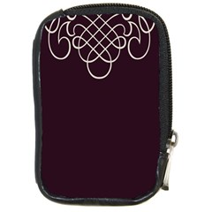 Black Cherry Scrolls Purple Compact Camera Cases by Mariart