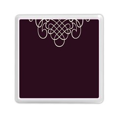 Black Cherry Scrolls Purple Memory Card Reader (square)  by Mariart
